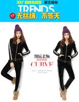 Big Size XL,2XL,3XL,4XL Women Fashion Striped 2pcs Suit Set Slimming Comfortable Tracksuit Free Shipping d663466366