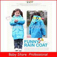 2014 New Child Rain Coat children Raincoat Baby Rainwear/Rainsuit Kids Waterproof Cute Cartoon Animal Raincoat