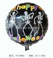 "Skeleton ballons Print ""HAPPY Halloween "" Party Balloons Decoration Inflatable helium Halloween toys Foil balloon balloon baloes"