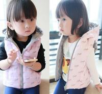 New wholesale baby clothing vest winter coat  purple pink  YXF201491701