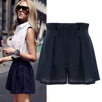 Womens Shorts Loose Plus Size High Waist Slim Down Organza Hot Pants Fresh Summer Street Casual All-Match Fashion Short 4988