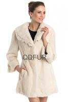 Luxury European Natural Whole-hide Mink Fur Coat Jacket with Turn-down Collar Winter Women Fur Outerwear Coats QD70712