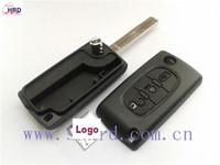 Folding Remote Key Shell Case For Citroen C2 C3 C4 C5 C6 Light Symbol 3BTN FT0273