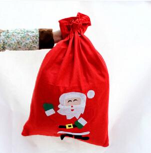 20cmX30cm Christmas gifts bag, promotional gifts bag Santa Claus bag back High-end gift bag children love SD-080A(China (Mainland))