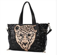 Free Shipping !Newest Hot Sale Sequined bags of new tide package of PU single shoulder bag Handbag Shoulder Bag cross rivet