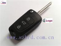2014 Hot Sale Uncut Blade 3 Buttons Flip Remote Key Shell For Kia K2 K5 Car Keys Blank Case Cover + Free Shipping