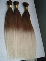 brazilian virgin hair straight ombre hair extensions Braiding Hair Ombre Hair Bulk for Braiding