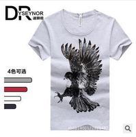 2014 new arrival men's casual cotton short sleeves T-shirt mens brand o-neck fashion High quality Diamond supply T-shirt cyp29