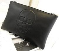 2014 Autumn winter new European and American Punk Vintage PU embossed skull Kito hand diagonal shoulder bag women handbags SJ-41