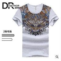 2014 new arrival men's casual cotton short sleeves T-shirt mens brand o-neck fashion High quality Diamond supply T-shirt