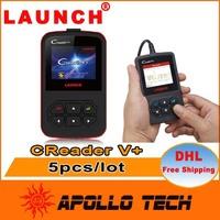 [5pcs/lot] 100% Original LAUNCH CReader V+ OBDII Code Reader Advanced CReader V Plus Free Online Update + Multi-Language