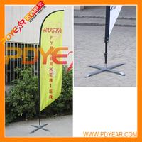 Feather flagpole + single flag+cross base -America