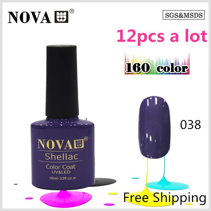 soak off uv gel nail polish 12pcs one unit free ship all 160 different colours PN038(China (Mainland))