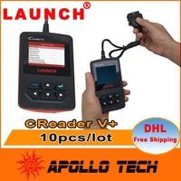 [10pcs/lot] Factory Price LAUNCH CReader V+ OBDII Code Reader Advanced CReader V Plus Free Online Update Creader 5+