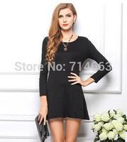 Autumn Cotton Dress Candy Color Long Sleeve Slim-fitting Big Yard Dress Ball Gown Dress Empire Dress 1015