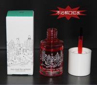 1pcs Korea makeup matte Lip Paint Liquid lipstick water magic dyeing tint lip gloss non-stick cup glass liquid blush