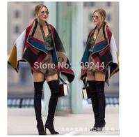 Winter new European and American retro elegant cashmere shawl scarf air conditioning ethnic wind shawl