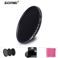 Free Shipping New Zomei 55mm ND ND2 ND4 ND8 Filter Germany Schott Neutral Density Lens Protector for Canon Nikon Sony Camera