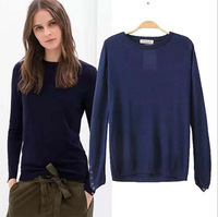 Fall Hot 2014 New Autumn Winter  Women Loose Knitted Pullover Sweater Tops Shirt Long Sleeve Knitted Sweater Women Casual Wear