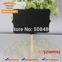 Free Shipping 10 Pcs Mini Chalkboards Blackboard Sign Cake Topper on Stake Candy/Lolly Buffet Wedding Decor