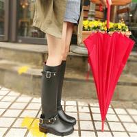 High Reputation Fashion Rubber Women Hunte Rain Boot Long Motorcycle Rainboots Western Women Autumn Rain Boots