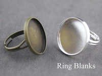50pcs antique bronze or silver ring blank, ring base, nickel safe, lead free
