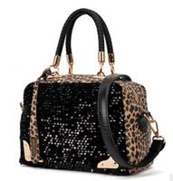 Fall 2014 new European and American fashion women handbags Korean portable bag sequined fringed shoulder bags 27*19*11cm SJ-42