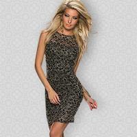 DA18085 Free Shipping New Style Black Office Lady White Elegant Bodycon Lace Dress