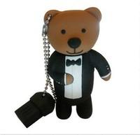 Free Shipping USB Drive Bear Full Capacity 1GB/2GB/4GB/8GB/16GB/32GB/64GB Cartoon USB Flash Drive