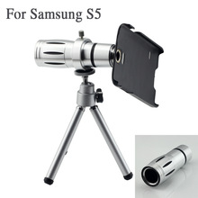 12x Zoom Optical Telescope Mobile Phone Lens Smartphone Camera With Tripod & Holder Case For Samsung Galaxy S5 SV I9600 2014 New