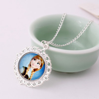 frozen snow Romance necklace jewelry boutique children's birthday gift two background pattern 3