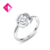D&Z Christmas Gift Classic Genuine Austrian Crystals Fashionrose shape  Ring super cute rings,ring sries