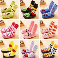 free shipping on sale! New arrival hot-selling cotton children socks slip-resistant kid's socks baby leather floor socks