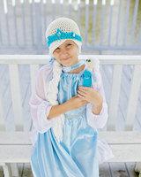 free shipping,New Movie Frozen Elsa Queen New style Warm 100% Cotton crochrt Hat,Girl's hat,Children's hat