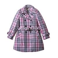 5pcs/lot Bilibya Autumn Girls Outerwear 2014 Fashion Children Coats England Style Girls Plaid Long Sleeve Coat  free shipping