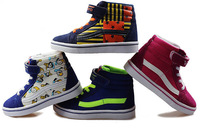 2014 autumn winter good quality Fashion boys Sneakers Girls warm shoes Children Shoes Cool Children Boots high canvas shoes