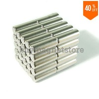 Wholesale 40pcs Super Strong Neodymium Rod Magnets Dia 10mm x 30mm N35 Small Round Rare Earth NdFeB Stick Bar Magnet