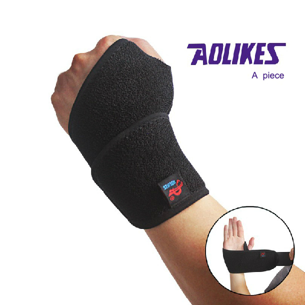 Special price sport wristband tennis wrist brace support breathable absorbent wrist wraps bandage armguard palm free shipping(China (Mainland))