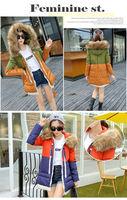 New 2014 Brand Winter Fur Collar Hooded Down Jacket  Women Slim Down Jacket High quality Women Blouse Coat Uniform Fight Color