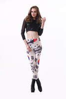Forever Beauty Stretchy Sexy Lady South Korea National Flag  Printed Legging