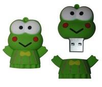 Free Shipping Frog USB Flash Drive Full Capacity 1GB/2GB/4GB/8GB/16GB/32GB/64GB Cartoon USB Flash Drive