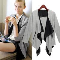 2014 New autumn and winter Women Solid Suit jacket women Blazer coat cardigan outwear plus size women clothes