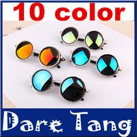 New2014 Retro Round Lens Coating Sunglasses Women Brand Designer Vintage Sun Glasses Men Cycling Eyewear Oculos De Sol Gafas 023
