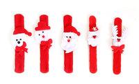 2Pcs Christmas Jewelry Slap Bracelet/Bangle Pat Circle Hand Ring Xmas Decor Gift