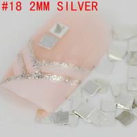 New! Square flat shape 2mm 3D 500pcs metal nail art decoration free shipping Gold/Silver Nail Art Tips Metallic Studs sticker