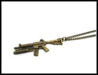 MACHINE GUN M16 war peace lover charm necklace NW1856