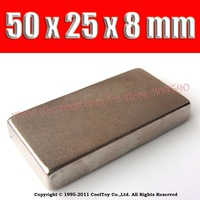 2014 new real  sheet 50*25*8mm  craft model powerful strong rare earth ndfeb magnet neo neodymium n35 magnets 50 x 25 8 mm