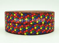 WM ribbon 7/8inch 22mm 140917030 Spark Dots Pattern printing grosgrain ribbon 50yds/roll free shipping