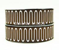 WM ribbon 1.5inch 38mm 140917036  Geometric Pattern Printed with Glitter grosgrain ribbon 50yds/roll free shipping