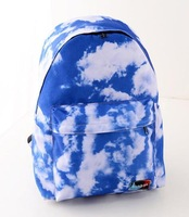 Super Value Fashion Nylon Women High Quality Canvas Backpack Blue Sky And White Clouds Pattern School Bags Travel bags ruchsack